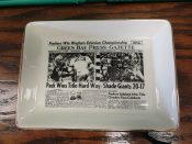 """1961 Green Bay Packers """"Sports Page"""" Pottery Tray Western Division Champs"""