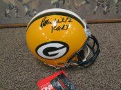 Dual Signed Reggie White Brett Farve Full Size Green Bay Packers Helmet