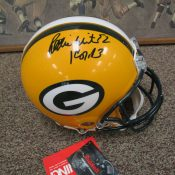Dual Signed Reggie White Brett Farve Full Size Green Bay Packers Helmet