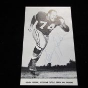 Scarce Green Bay Packers' Henry Jordan Autographed Program Cut-Out