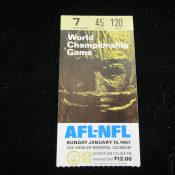 Original Super Bowl I Ticket Stub Excellent Condition