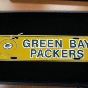 Vintage 1970s Green Bay Packers License Plate Topper