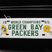 1965 World Champions Green Bay Packers License Plate Topper