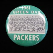 Large 1961 Green Bay Packers Team Photo 6″ Pinback Button