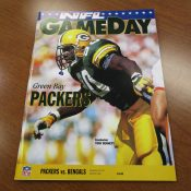 Green Bay Packers Vs. Cincinnati Bengals Game Program Favre's 1st TD Pass