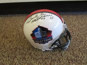 Bart Starr Autographed Hall Of Fame Mini Helmet