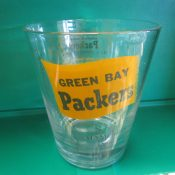 Scarce 1966 Green Bay Packers NFL Champions Old Fashioned Glass