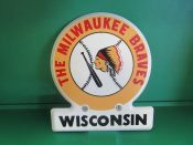 Milwaukee Braves License Topper Grill Badge Circa 1950s