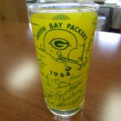 Scarce 1964 Green Bay Packers Glass With Facsimile Autographs