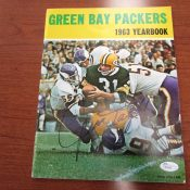 Green Bay Packers 1963 Yearbook With Jim Taylor Autograph On Cover JSA