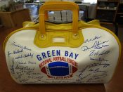 Late 1960s Green Bay Packers Vinyl Gym Bag With Facsimile Autographs