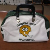 Vintage 1970s Green Bay Packers Vinyl Gym Bag New Old Stock
