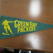 Vintage 1940s-1950s Green Bay Packers Souvenir Felt Pennant