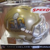 50th Anniversary Super Bowl Speed Mini Helmet