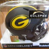Green Bay Packers Black & Yellow Alternate Eclipse Mini Helmet