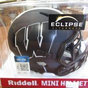 Wisconsin Badgers Alternate Eclipse Black Mini Helmet
