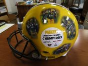 """Green Bay Packers Full Size Hamilton Collection Ceramic """"Collage Helmet"""""""
