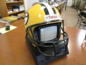 Scarce 1990s Green Bay Packers Full Size TV & AM-FM Radio Helmet Battery Operated