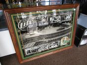 Green Bay Packers Lambeau Field 50th Anniversary Large Framed Miller Beer Mirror