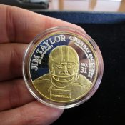 Green Bay Packers Titletown Forever 1 Ounce Silver Coin Jim Taylor