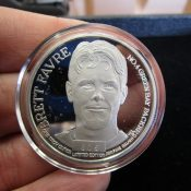 Green Bay Packers Brett Favre 1 Ounce Solid Silver 1997 Pro Bowl Coin