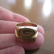 10K Solid Gold Green Bay Packers Fan's Ring