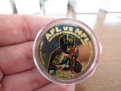 Green Bay Packers Super Bowl 1 AFL vs. NFL 1968 World Championship Silver Coin