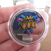 Green Bay Packers Super Bowl 31 Logo Titletown Forever 1 Ounce Silver Coin