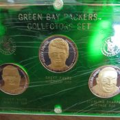 Green Bay Packers Three Silver Coin Collectors Set Favre White Sharpe