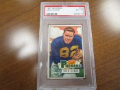 1951 Bowman Football Card #124 Green Bay Packers Jack Cloud PSA 6