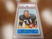 1964 Philadelphia Football Card #80 Green Bay Packers Jim Taylor PSA 8