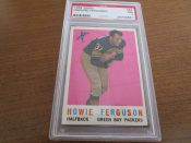 1959 Topps Football Card #56 Green Bay Packers Howie Ferguson PSA 7