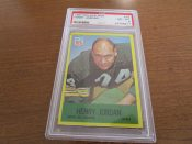 1967 Philadelphia Football Card #78 Green Bay Packers Henry Jordan PSA 8