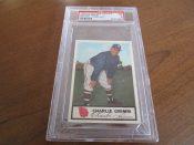 1955 Johnstons Cookies Milwaukee Braves Charlie Grimm Baseball Card PSA 5