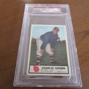 1955 Johnstons Cookies Milwaukee Braves Charlie Grimm Baseball Card PSA 5