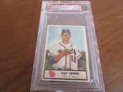 1955 Johnstons Cookies Milwaukee Braves Ray Crone Baseball Card PSA 6