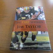 The Fire Within Green Bay Packers Jim Taylor Autographed Book