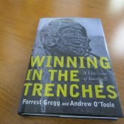 Winning In The Trenches Forrest Gregg Autographed Book