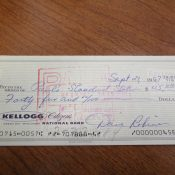 Dated 1967 Green Bay Packers Dave Robinson Personal Check
