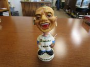 Scarce Vintage Milwaukee Braves Dashboard Bobblehead Souvenir Doll